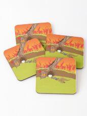 Wombat warden Coasters