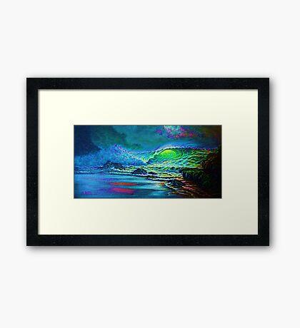 Green Glow Framed Print