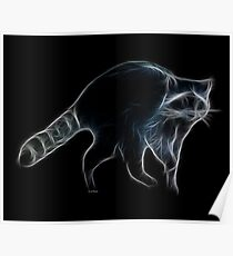 Medicine Wheel Totem Animals by Liane Pinel- Raccoon Poster