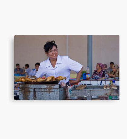 Lunch Lady Canvas Print