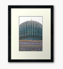 Dome of Amur Timur Mausoleum Framed Print