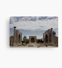 Registan Square view Canvas Print