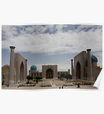 Registan Square view Poster