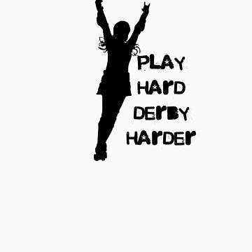 Play Hard, Derby Harder ~ Black by levywalk
