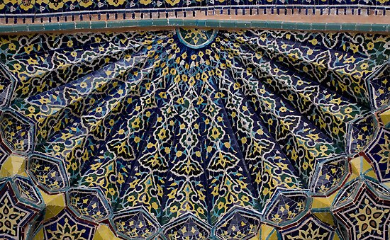 Blue & Yellow Tiles by Gillian Anderson LAPS, AFIAP