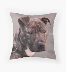 Mia : Staffordshire Bull Terrier Throw Pillow