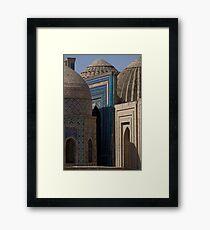 Looking down the street, Shah-i-Zinda Framed Print