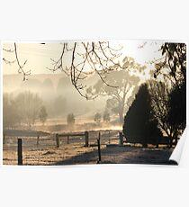 Foggy Winter Morning Poster