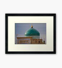 Green dome Framed Print