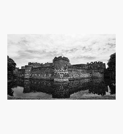 Beaumaris Castle B/W edit Photographic Print