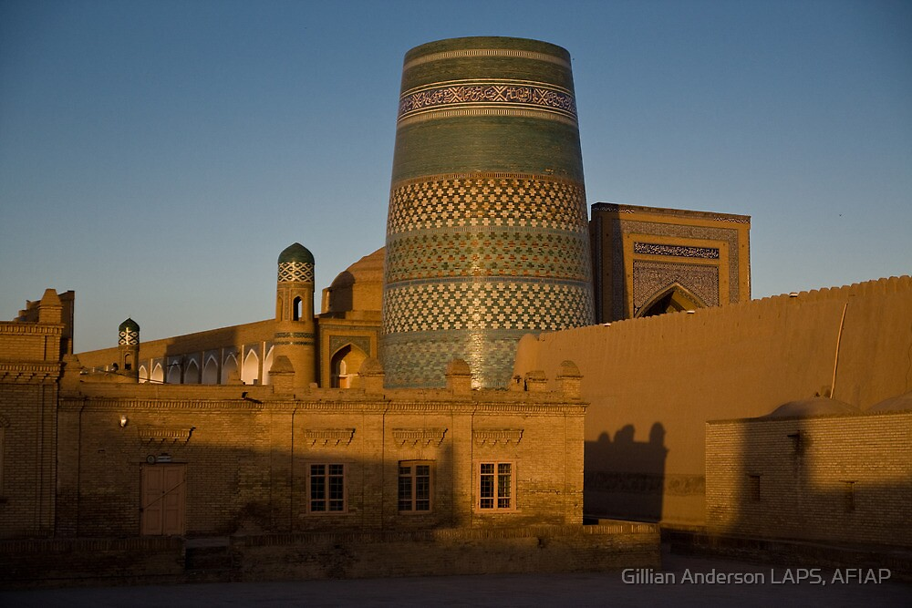 Khiva walls at dawn by Gillian Anderson LAPS, AFIAP