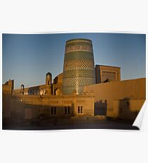 Khiva walls at dawn Poster