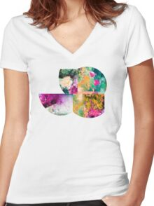Coral Ocean Women's Fitted V-Neck T-Shirt