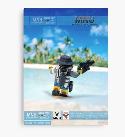 MNU diving suit 3 Canvas Print