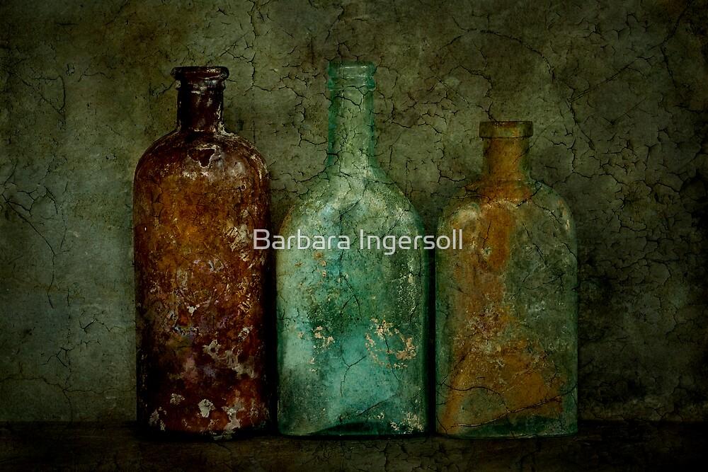 Three Old Bottles by Barbara Ingersoll
