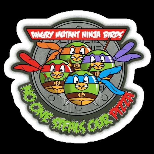 Angry Mutant Ninja Birds by weRsNs