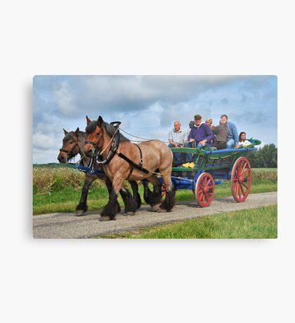 Farmer's wagon from Schouwen. Metal Print