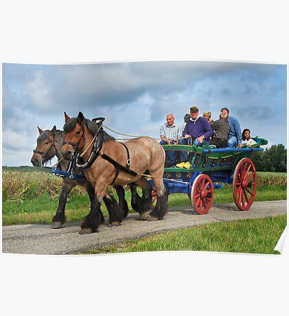 Farmer's wagon from Schouwen. Poster
