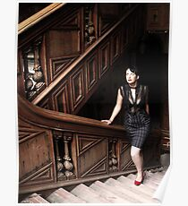 Vintage stairway Poster