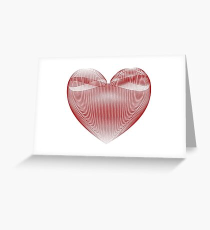 Calligraphic Heart Greeting Card