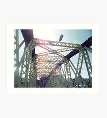 When on a Bridge look up, not down - Ramsey Harbour Art Print