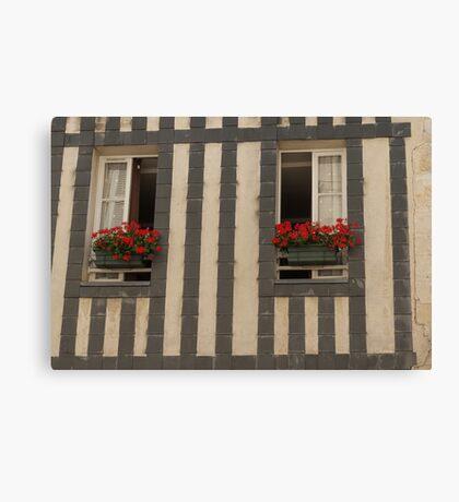 A Pair of Windows, La Rochelle, France Canvas Print