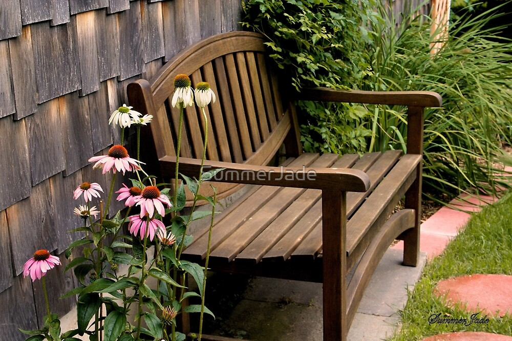 The Sheltered Bench by SummerJade