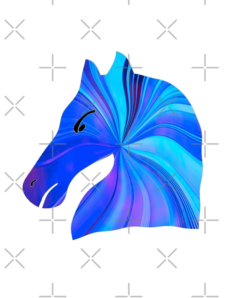 Blue Pony iPhone / Samsung Galaxy Case by Tucoshoppe
