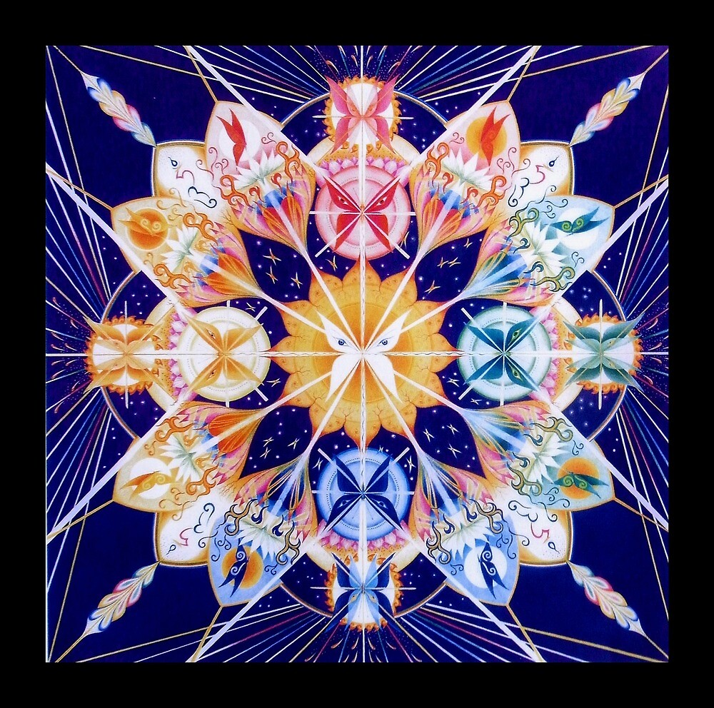 Butterfly Mandala by Gill Rippingale