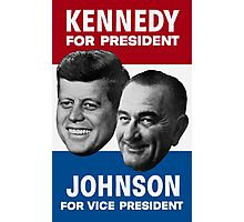Kennedy And Johnson 1960 Election Photographic Print