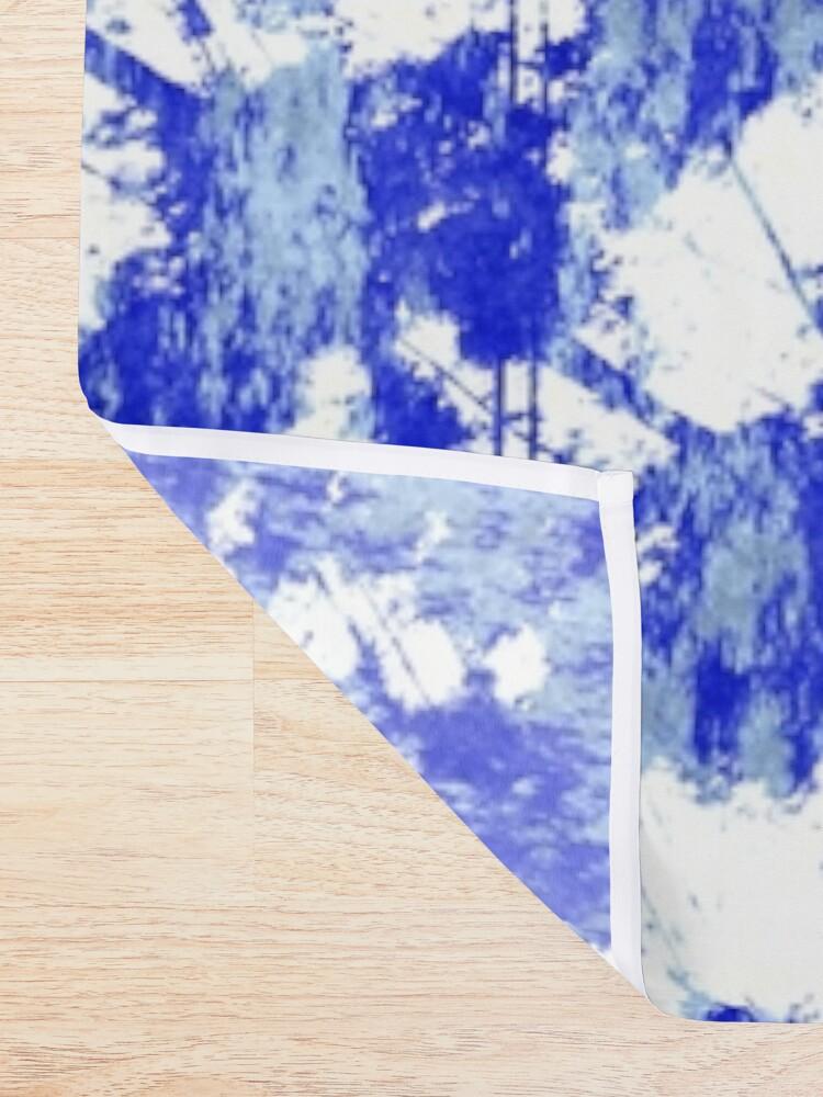Alternate view of Blue rust Shower Curtain