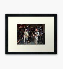 bros on stage Framed Print