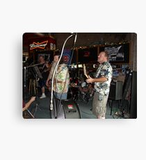 bros on stage Canvas Print