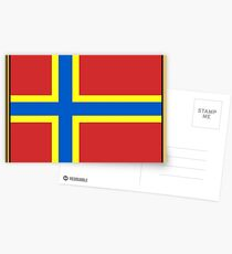 Orkney Flag Stickers, Gifts and Products Postcards