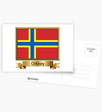 Orkney Named Flag Stickers, Gifts and Products Postcards