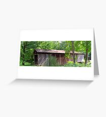 Time stands still here.....covered bridge still standing strong Greeting Card