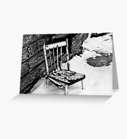 Broken Chair Greeting Card