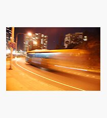 Night Bus Back to the Future Photographic Print