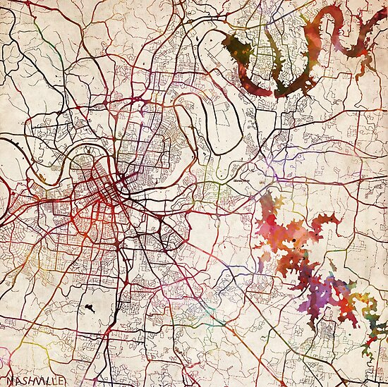 Nashville map by MapMapMaps