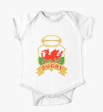 Welsh dragon rugby ball Wales Flag One Piece - Short Sleeve