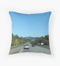 Beautiful Scenery from car windscreen,Pacific Hwy, East Coast. Throw Pillow