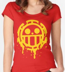 Heart pirates trafalgar law one piece Women's Fitted Scoop T-Shirt