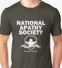 National Apathy Society Slim Fit T-Shirt
