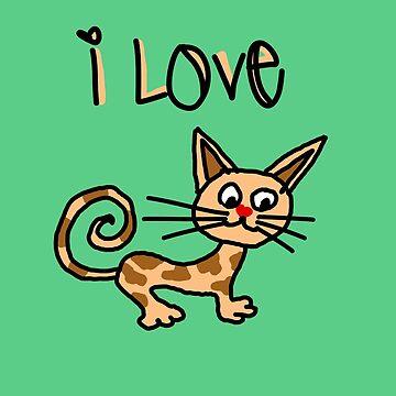 I LOVE CAT by swghosh