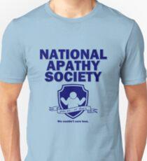 National Apathy Society Blue T-Shirt