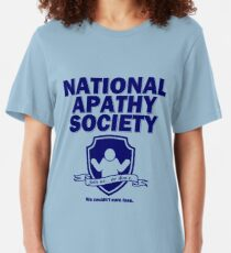 National Apathy Society Blue Slim Fit T-Shirt