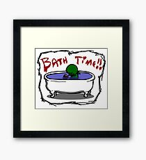 Bathe the elder god!! Framed Print