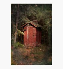 Mead Creek Outhouse Photographic Print