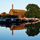 Canal Boats at Stratford Upon Avon by artfulvistas