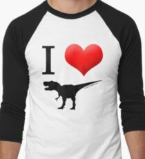 I Heart Dinos Men's Baseball ¾ T-Shirt